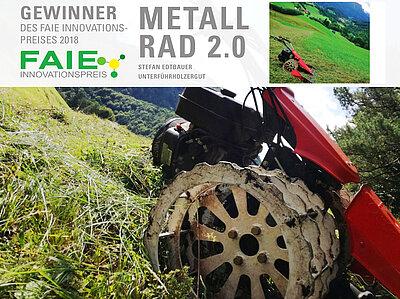 Innovation Farm - Metallräder für Motormäher oder Geräteträger